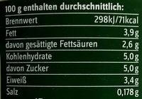 BIO-Joghurt mild - Informations nutritionnelles - de