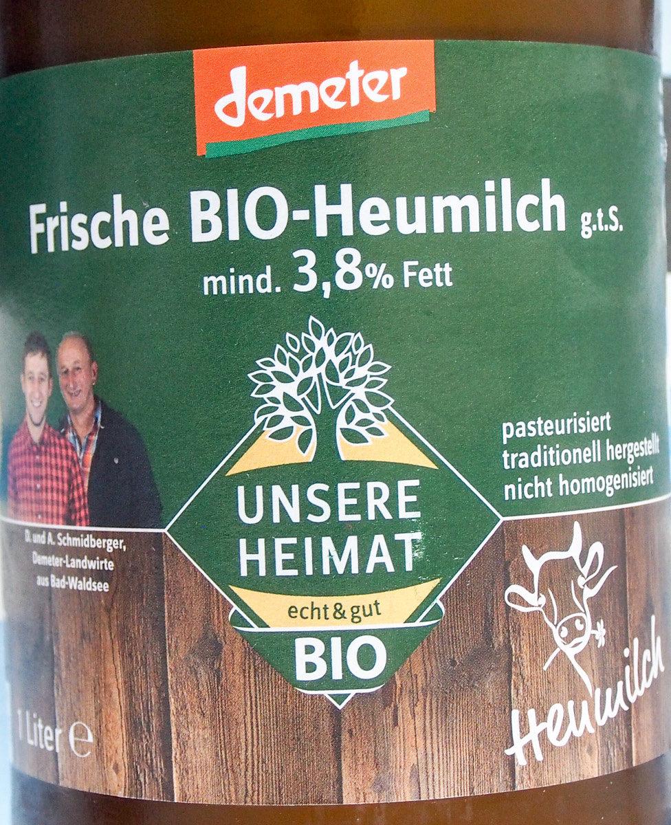 frische Bio-Heumilch g.t.S. - Produit - de
