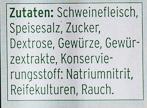 Schwarzwälder Schinken - Ingrediënten - de