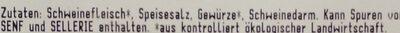 Grobe Bratwurst - Zutaten - de