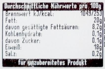 Hackfleisch gemischt - Nährwertangaben