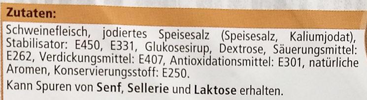 Delikatess Safthinterschinken gegart - Ingredients