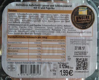 Delikatess Aufschnitt - Produkt