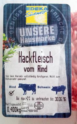 Hackfleisch vom Rind - Produkt