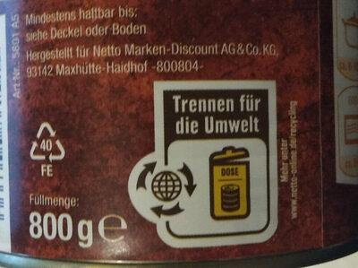 Hüner Nudeltoof - Instruction de recyclage et/ou informations d'emballage - de