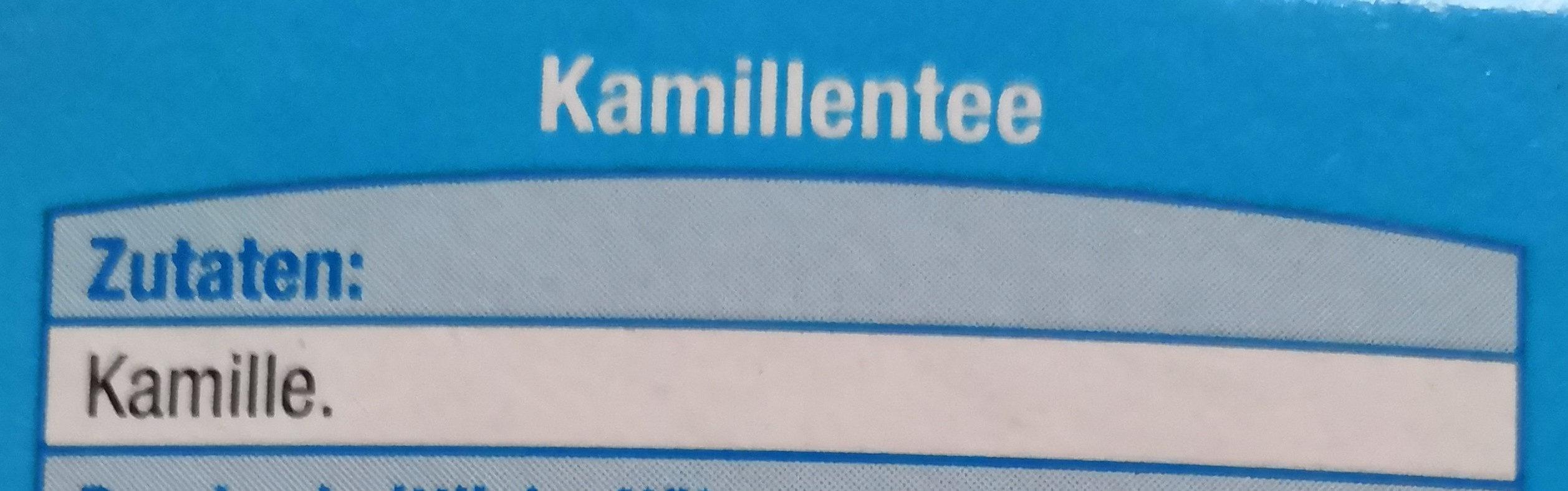 Kamillentee - Zutaten - en