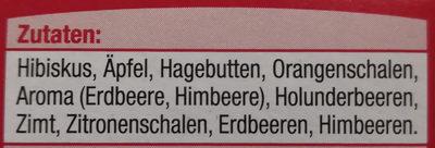 Erdbeere Himbeere (Tee) - Ingrédients - de