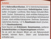 Schoko Müsli - Zutaten - de