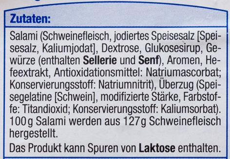 Baguette Salami - Ingrediënten