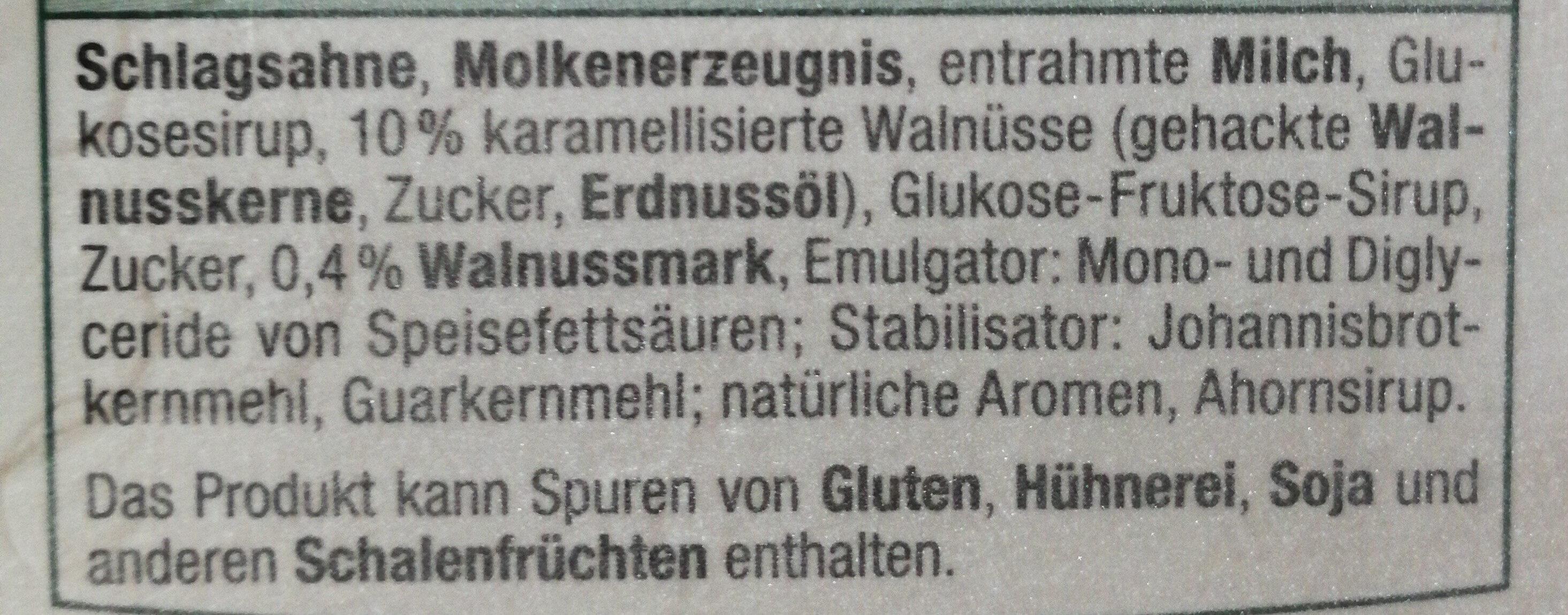 Walnuss Eiscreme - Ingrédients - de