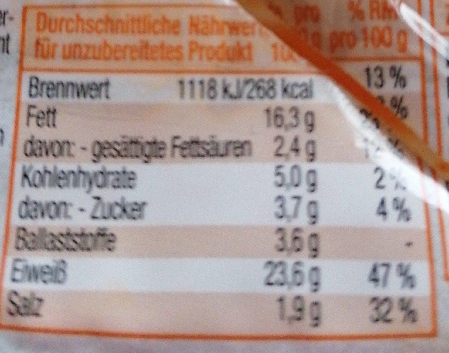 Vegane Tofu bratstreifen - Informations nutritionnelles - de