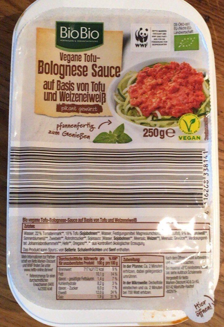 Vegane Tofu-Bolognese Sauce - Produit - de