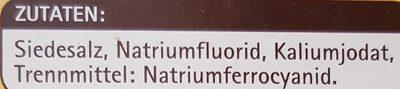 Jodsalz mit Fluorid - Inhaltsstoffe