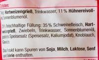 Fleisch Tortellini - Ingredients