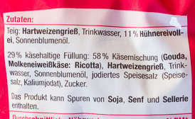 Käse Tortellini - Ingredients