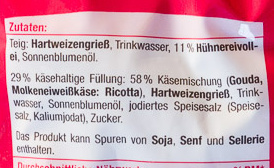 Käse Tortellini - Ingrediënten - de