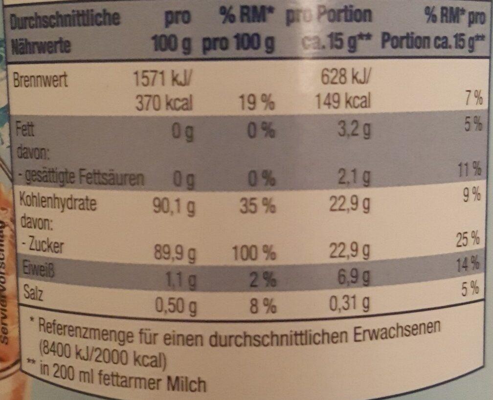 Eiskaffee Classico - Voedingswaarden - de