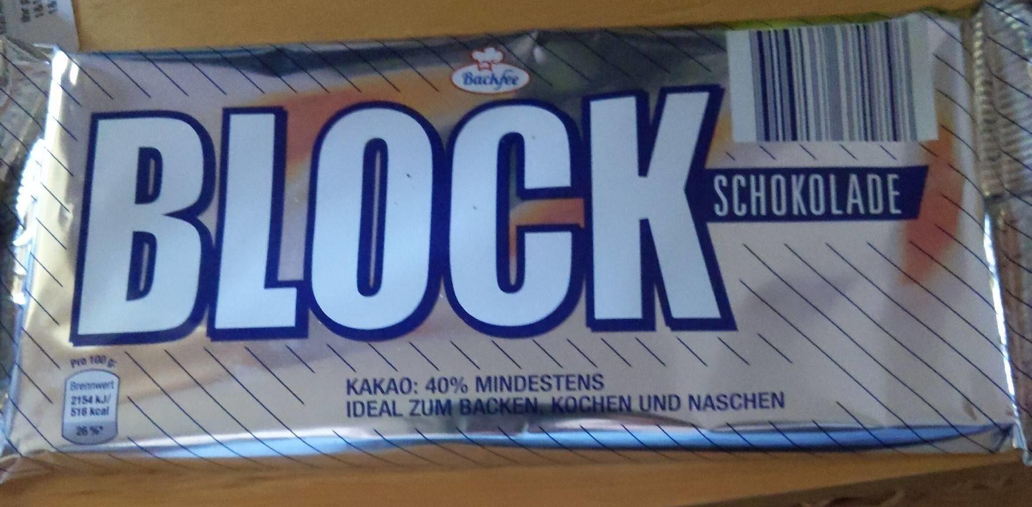 Blockschokolade - Produkt - de