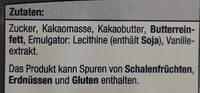 Blockschokolade - Zutaten - de