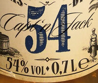 Capt'n Jack Echter Überseerum 54 - Voedingswaarden - de