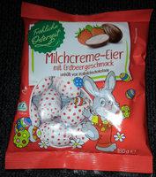 Milchcreme-Eier (Erdbeer) - Produit - de