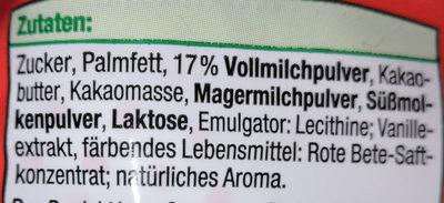 Milchcreme-Eier (Erdbeer) - Ingrédients - de