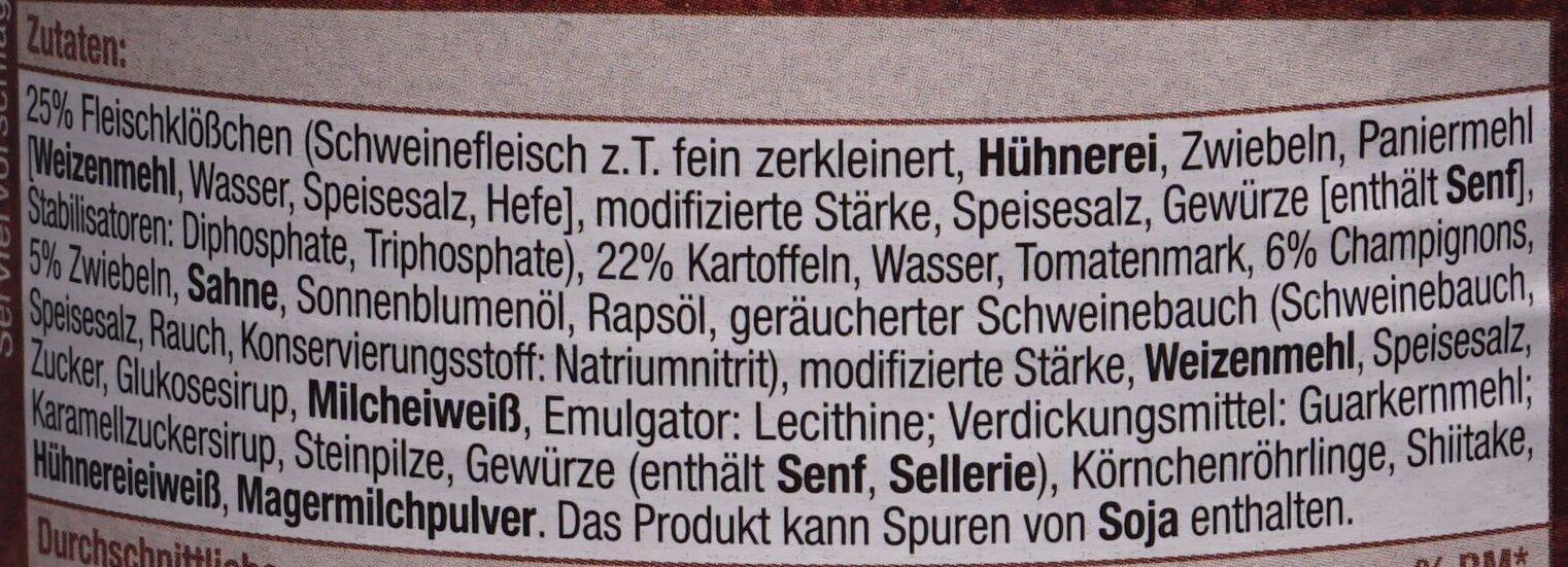 Deftige Mahlzeit Jäger Topf - Zutaten - de