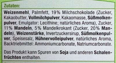 Mandel Spritzgebäck - Inhaltsstoffe