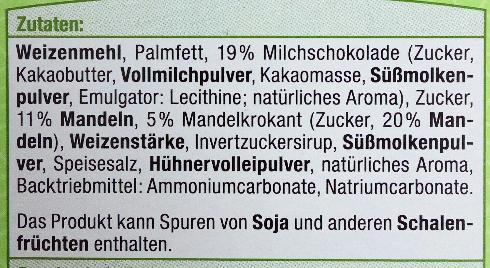 Mandel Spritzgebäck - Inhaltsstoffe - de