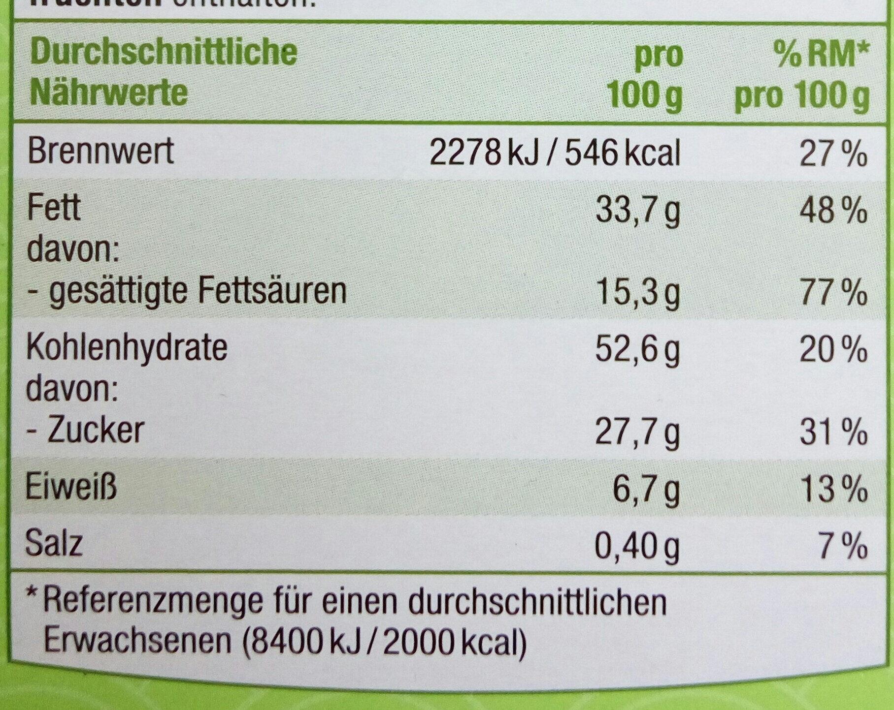 Mandel Spritzgebäck - Nährwertangaben - de