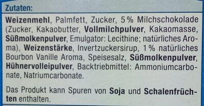 Vanille Spritzgebäck - Ingrédients - de