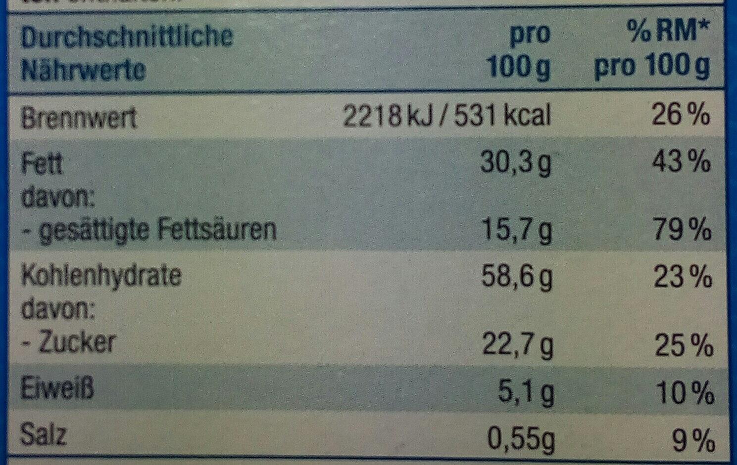 Vanille Spritzgebäck - Informations nutritionnelles - de