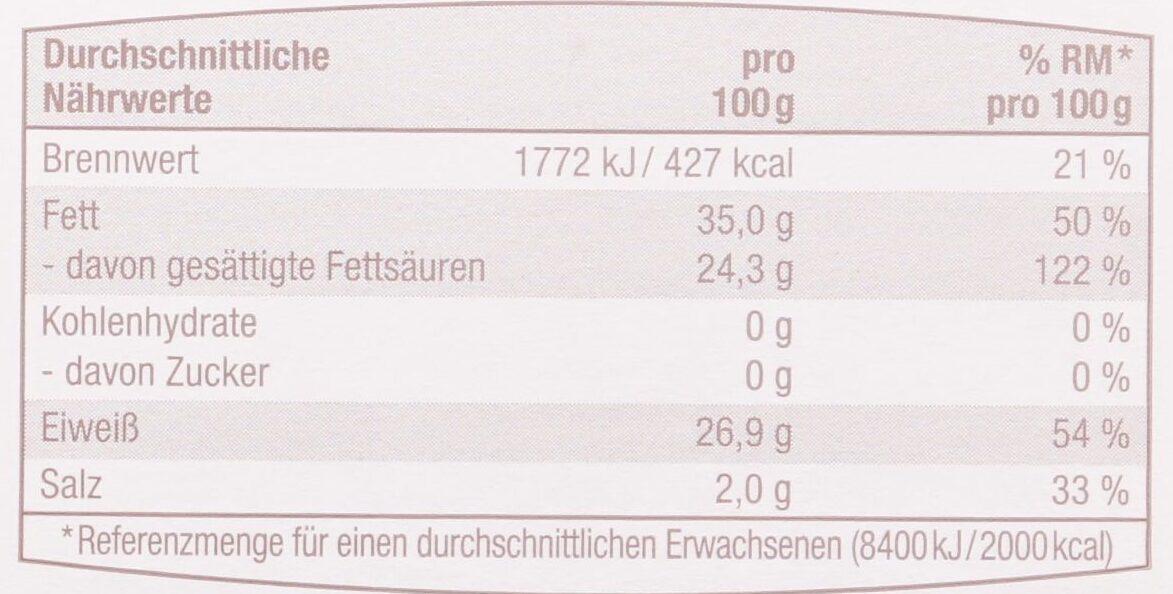 Gouda Alt - Voedingswaarden - de