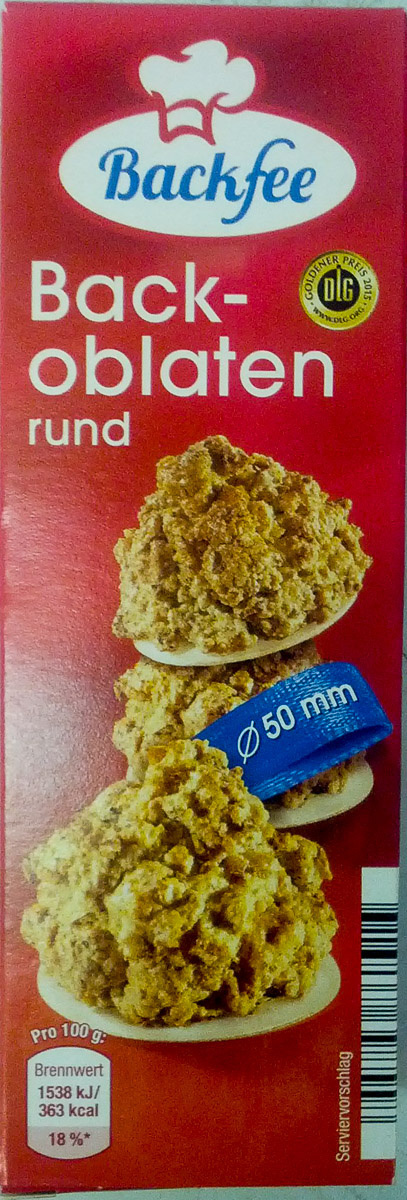 Backoblaten rund - Product