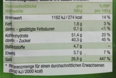 Salat Fix Garten Kräuter . Carat - Nutrition facts