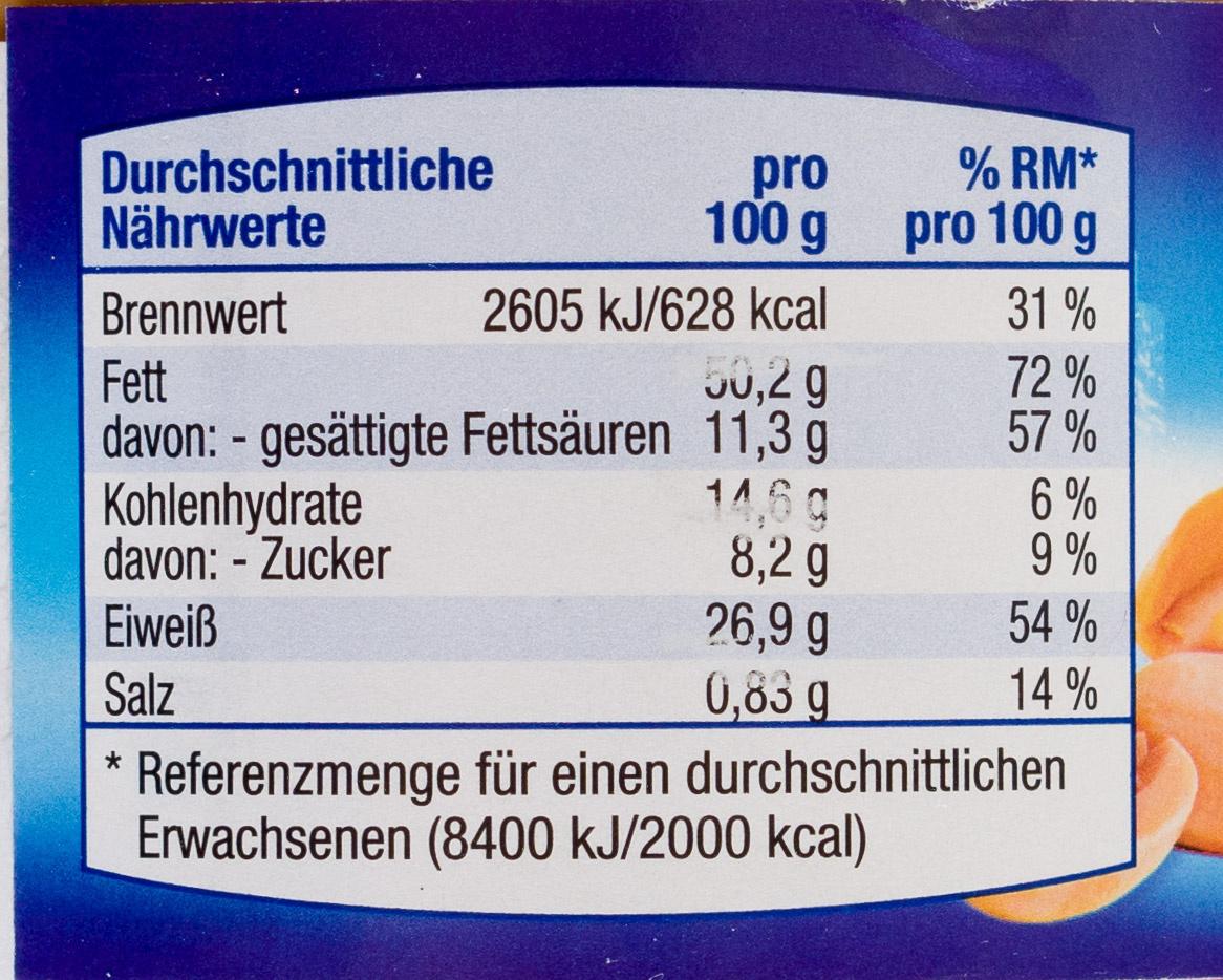 Erdnuss Creme Creamy - Voedigswaarden
