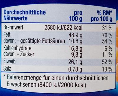 Erdnuss Creme Crunchy - Voedingswaarden