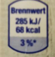 BioBio Frische Vollmilch - Ingredienti - de