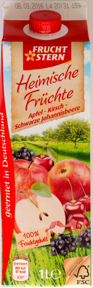 Heimische Früchte Apfel-Kirsch-Schwarze Johannisbeere - Product