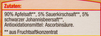 Heimische Früchte Apfel-Kirsch-Schwarze Johannisbeere - Ingredients