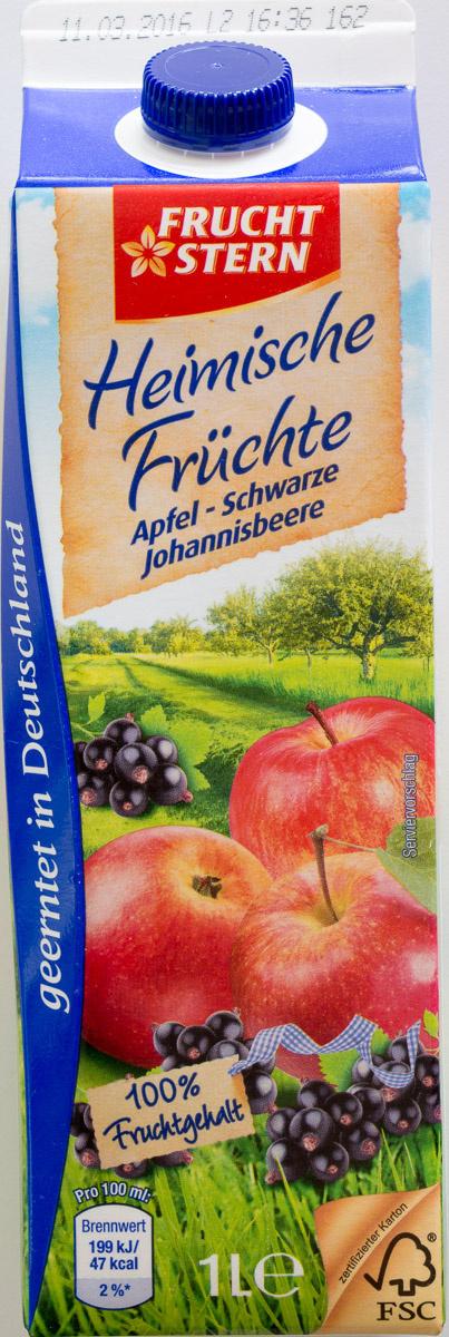 Heimische Früchte Apfel - Schwarze Johannisbeere - Product