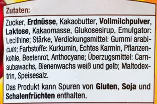 Bunte Choco Nuts - Ingredients