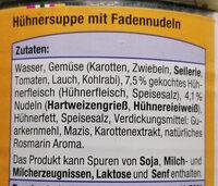 Hühnersuppe mit Fadennudeln - Ingrediënten