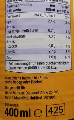 Hühnersuppe mit Fadennudeln - Nutrition facts