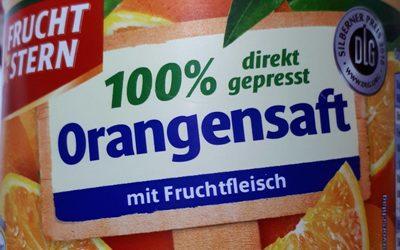 Fruchtstern - Orange 100% Direktsaft Mit Fruchtfleisch - Ingrediënten - de