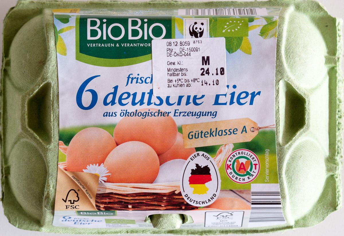 6 frische deutsche Eier - Product
