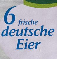 6 frische deutsche Eier - Ingrédients - de