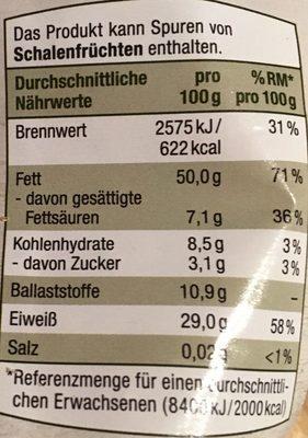 Erdnüsse - Informations nutritionnelles