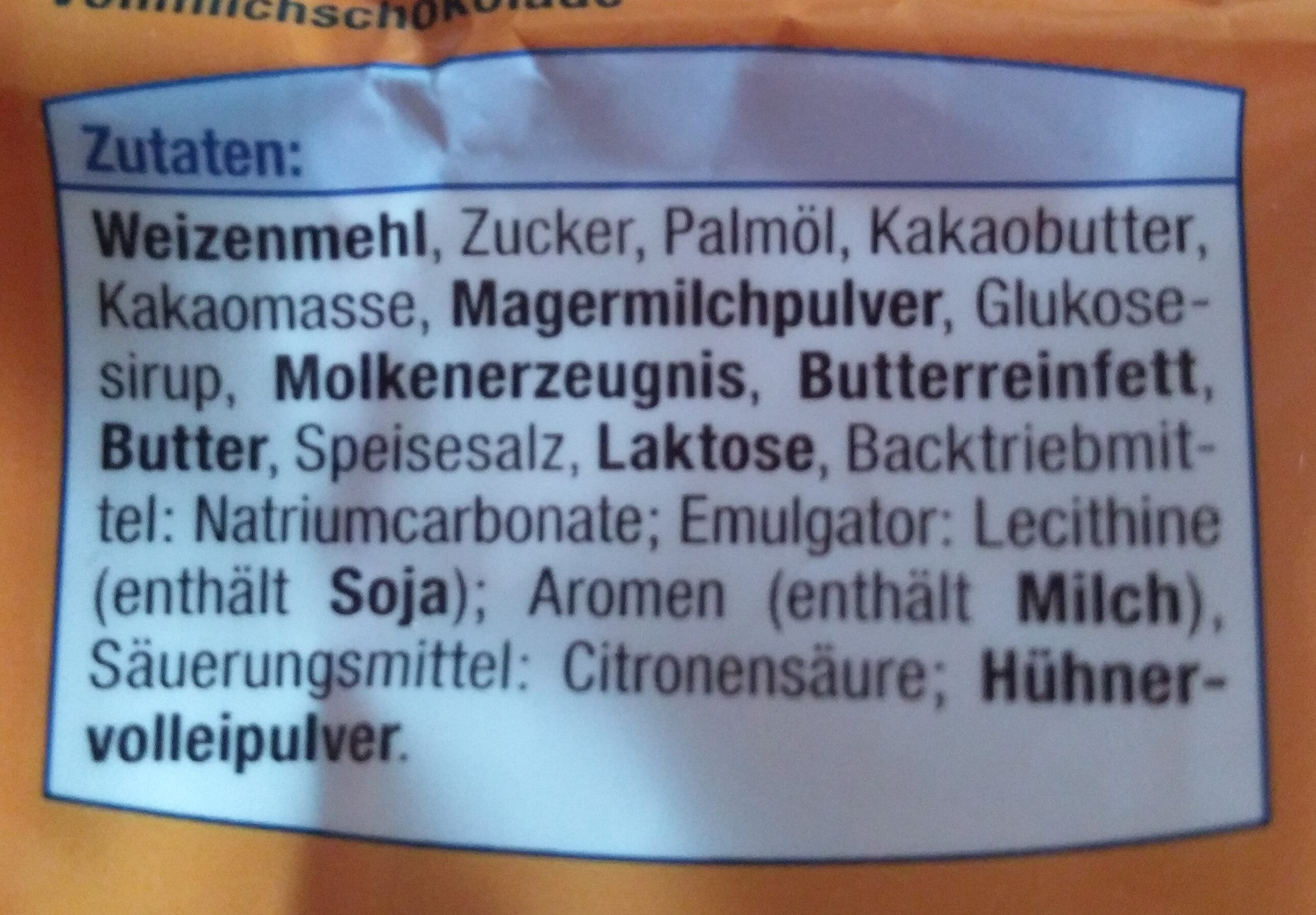 Mini Schokokekse (mit Vollmilchschokolade) - Zutaten - de