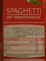 Spaghetti mit Tomatensauce - Ingredients